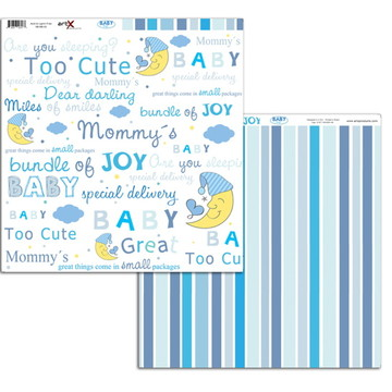 Papel Scrapbook Baby Boy 10 fl. #BB-02