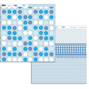 Papel Scrapbook Baby Boy 10 fl. #BB-07