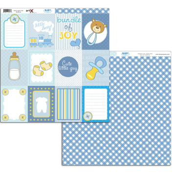 Papel Scrapbook Baby Boy 10 fl. #BB-09