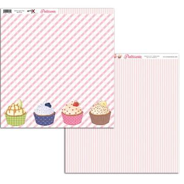 Papel Scrapbook Patisserie 10fl. #PT-03