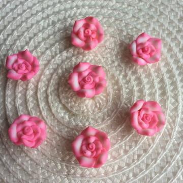 Flor Artesanal 2cm -Artesanato Chinelor