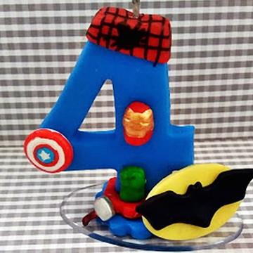 Vela Personalizada Super Herois