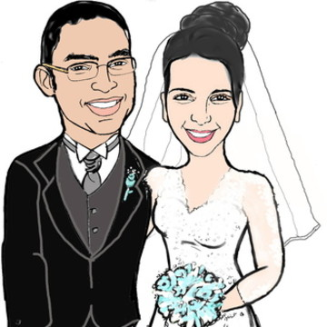 Caricatura Digital Casamento