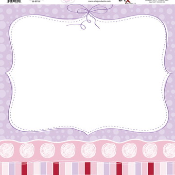 Papel Scrapbook Baby Girl 1 fl. ##BG-05