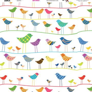 Papel Scrapbook Birds 10fl. ##BD-06