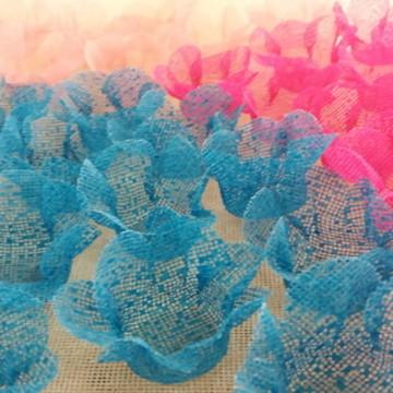 250 Forminhas Doces Flor em Tela Escócia