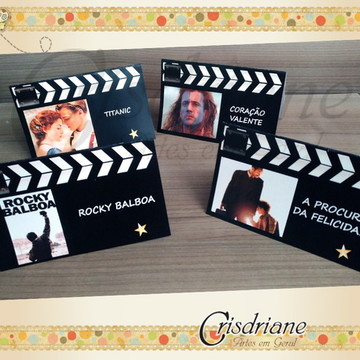 Plaquinhas de mesa Cinema Filmes