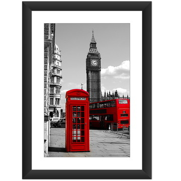 Quadro Londres Big Ben Telefone Art Casa