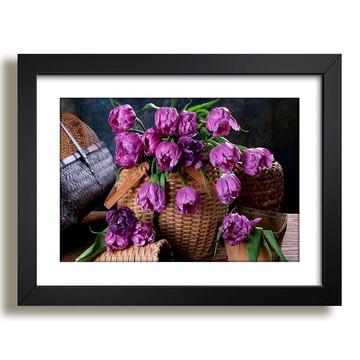 Quadro Flores Vaso Paisagem F36