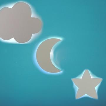 KIT LUMINARIA nuvem estrela SEM FIO