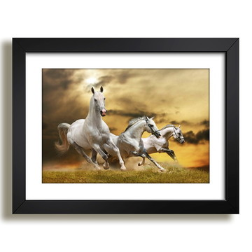 Quadro Cavalos Animais Arte Decor F37