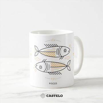 Caneca de Signo Peixes