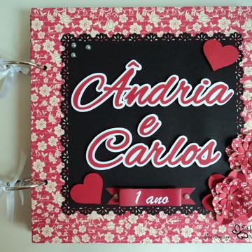 Álbum Scrapbook Personalizado Namorados