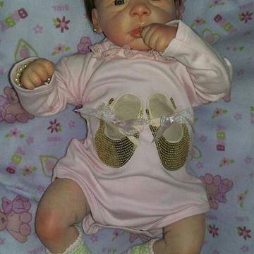 Bebe Reborn Michele Detalhes Reais Barata