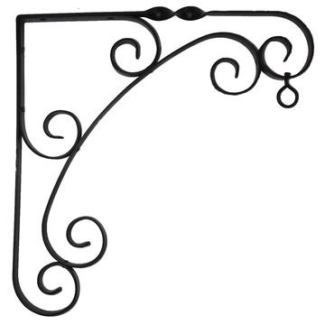 Floreira Jardineira Suporte Vaso Suspenso Em Ferro Forjado