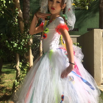 Vestido de Tule Noiva Junina