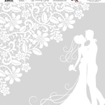 Papel Scrapbook Wedding Day 1 fl #WD-02