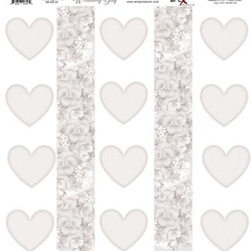 Papel Scrapbook Wedding Day 1 fl #WD-05