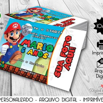 Convite Digital Tema Super Mario