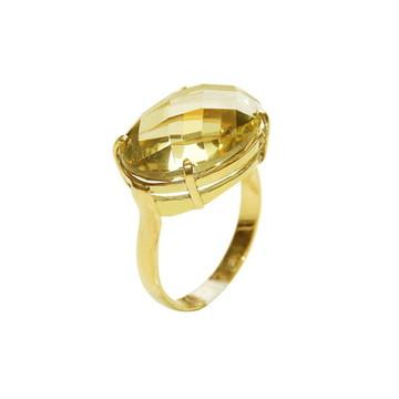 Anel Pedra Brasileira em Ouro 18k