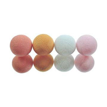 Cordão de luz A PILHA 20 bolas Rosa Lara
