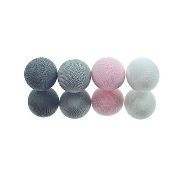 Cordão de luz A PILHA 20 bolas Rosa Cinz