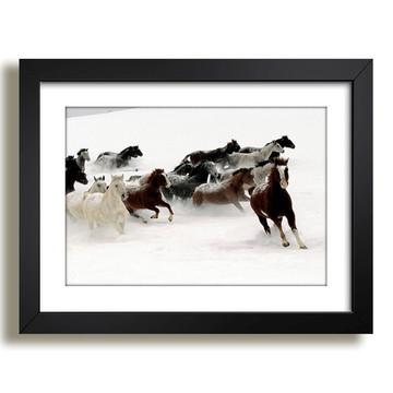Quadro Cavalos Animais Africa Decor F37