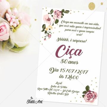 Convite 40 50 60 70 80 90 anos - Digital