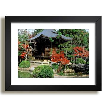 Quadro Paisagens Jardim Japones Floresta Presente Decoracao