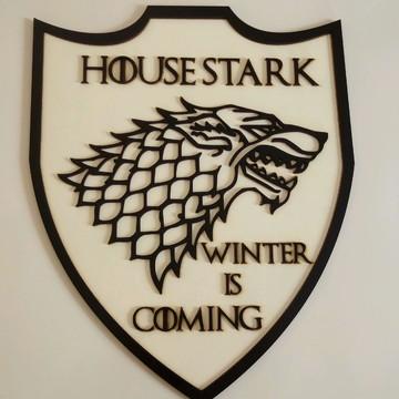 Quadro Game Of Thrones house stark mdf