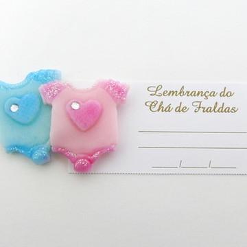 LEMBRANÇA CHÁ DE FRALDAS CASAL GÊMEOS