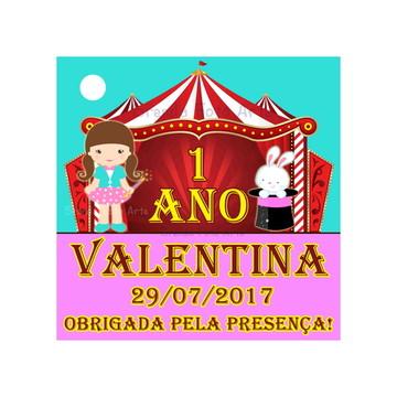 Tag Circo Rosa Menina