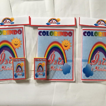 Kit de Colorir Personalizado Arco Iris