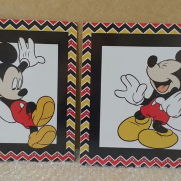 Kit quadros Mickey / mdf