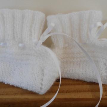 Sapatinho em trico