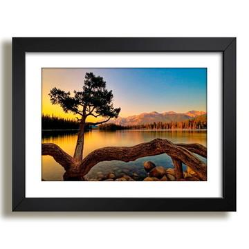 Quadro Natureza Arvores Montanha Lago Modura N8