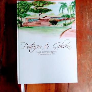 Livro de Mensagens de Casamento Paisagem campo