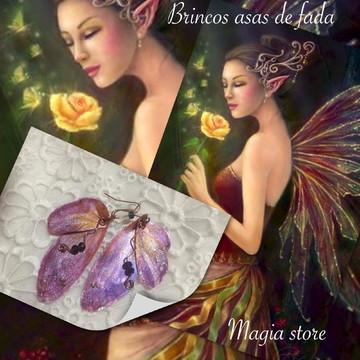 Brincos asas fadas borboleta elfos