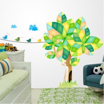 Adesivo de parede árvore e passaros