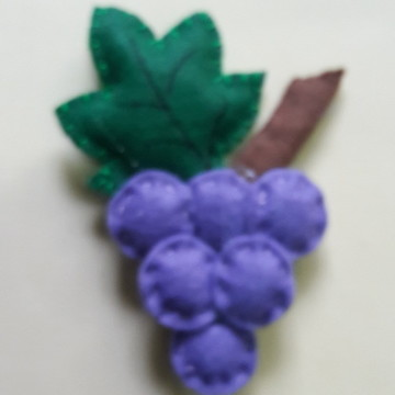 Frutas Decorativas de Feltro - Uva