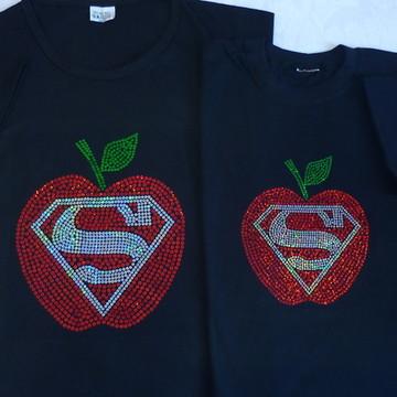 Camiseta Mãe & Filha Super Heroína