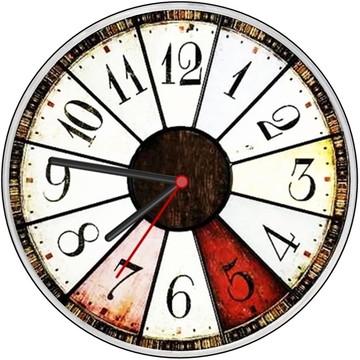Relógio parede decorativo vintage roleta