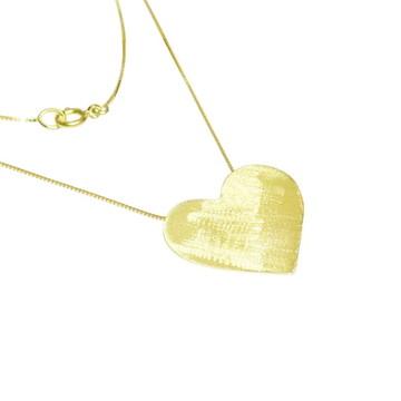Colar Coração em Ouro 18k