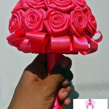 Mini Buquê Rosa Total