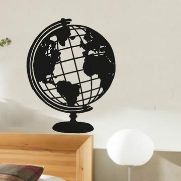 Adesivo decorativo Globo Mapa Mundi