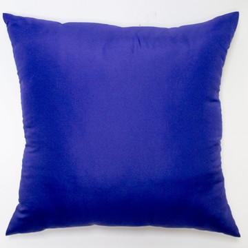 Capa De Almofada Lisa Azul Escuro