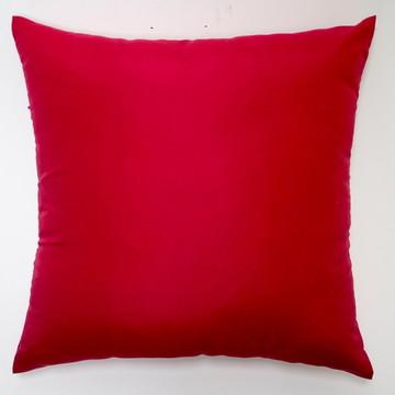 Capa De Almofada Lisa Vermelha