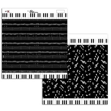 Papel Scrapbook Listra Poá 1un. #BW-02