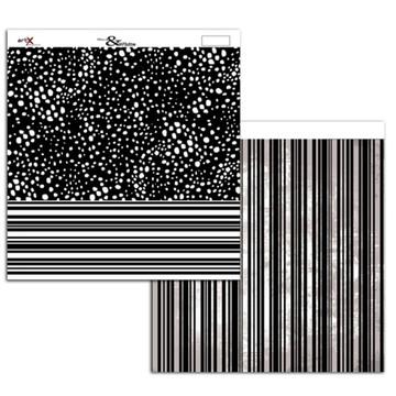 Papel Scrapbook Listra Poá 1un.##BW-02