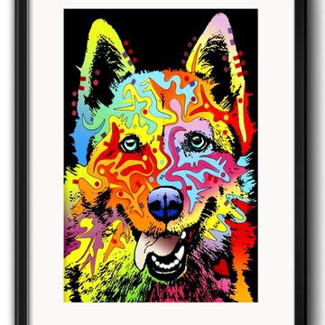 Quadro Husky Siberiano Pop Art Paspatur